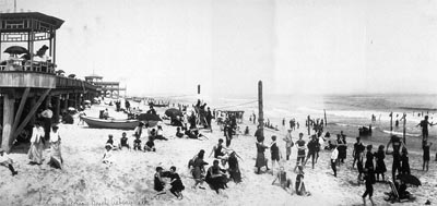 A Typical New Jersey Beach Scene From The Early 20th Century