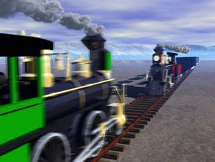 Image result for 2 trains about to crash