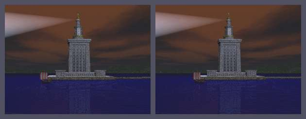 The seven wonders of the ancient world the pharos lighthouse the pharos at night copyright lee krystek 1998 malvernweather Images