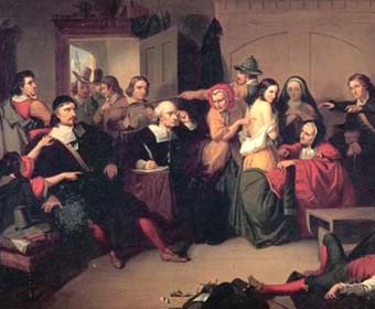 as this act opens what accusation does giles corey make